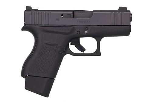 "Glock G43 Vickers 9mm, 3.39"" Barrel, Ameriglo Pro-Dot FS/BLK Rear, Black, 6rd"