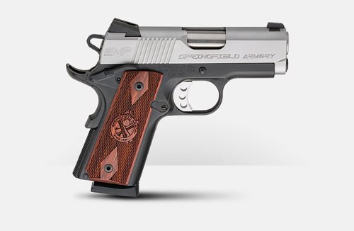 "Springfield 1911 EMP Instant Gear Up Package 9mm, 3"" Barrel, Cocobolo Grips, 9rd"