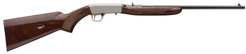 "Browning SA-22 Grade II Octagon 22LR, 19.3"" Barrel, Grade II/III Walnut Stock, Satin Nickel/Blued, 11rd"