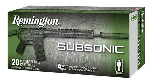 Remington Silencer Subsonic 9mm 147gr, Flat Nose Encl Base, 50rd Box