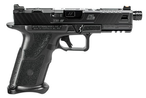 "Zev Technologies O.Z-9 Standard 9mm, Double, 4.49"" Barrel, Black Polymer Grip, Steel Frame, Black Slide, 17rd"