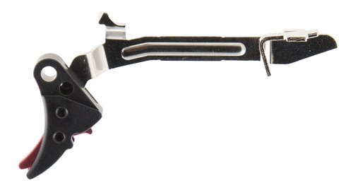 Zev Technologies Flucrum Adjustable Trigger Bar Kit, Glock 17-39, Most Models.Small,  Black/Red