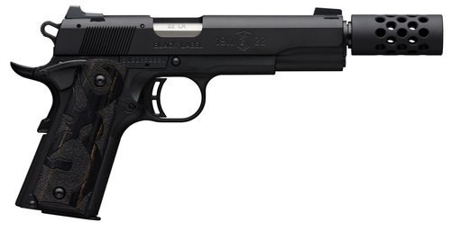 "Browning 1911 Black Label 22 LR, 3-Dot Sight, 4 7/8"" Barrel, Suppressor Ready"