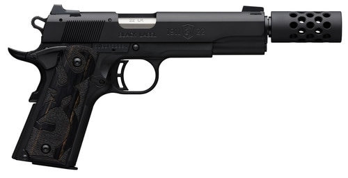 "Browning 1911 Black Label 22 LR, 3-Dot Sight, 4.25"" Barrel, Suppressor Ready"
