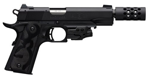 "Browning 1911 Black Label Crimson Trace Laser 22 LR, 4 7/8"" Barrel, Suppressor Ready"