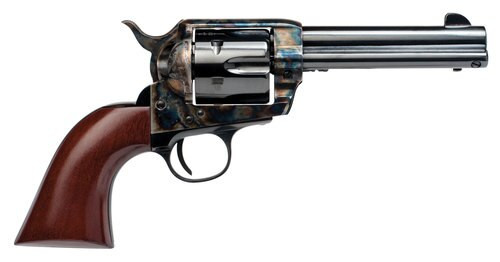 "Cimarron Frontier 45 Colt, 4.75"" Barrel, Color Case Hardened, Walnut Grips"