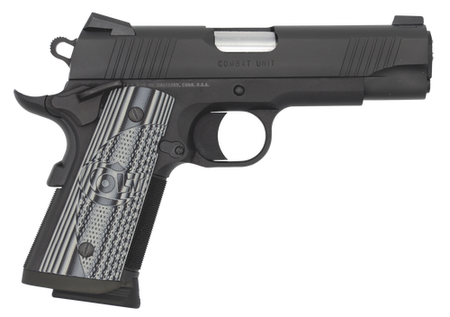 "Colt CCU Concealed Carry 45 ACP, 4.25"" Barrel, G10 Grips, Novak Sights, Black DLC, 7rd"