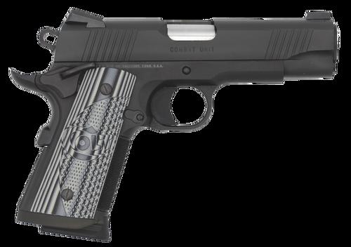 "Colt CCU Concealed Carry 45 ACP, 4.25"" Barrel, G10 Grips, Novak Sights, Black DLC, 7rd"