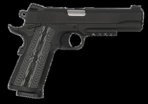 Colt CCU Rail 9mm, Gray G10 Grips, Novak Sights, Black DLC, 8rd