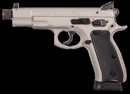 "CZ 75 Omega 9mm, 5.2"" Barrel, Black Polymer Grip Gray, 10rd"