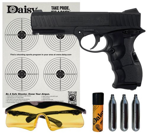 Daisy PowerLine Air Pistol Kit .177 Pellet/BB Black CO2