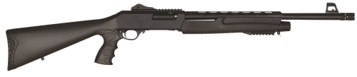 "Dickinson Commando Black Pump 12 Ga,18.5"" Barrel, Black Synthetic Stock, 5rd"