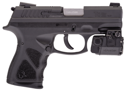 "Taurus TH9C 9mm, 3.54"" Barrel, Viridian Laser, Black"