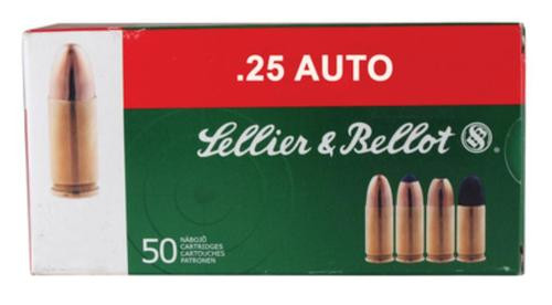 Sellier and Bellot 25 Auto/6.35 Browning 50 FMJ 50Rd/Box