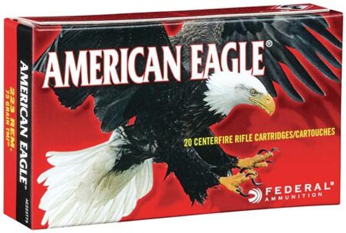 Federal American Eagle 223 Rem 75gr, TMJ, 20rd Box