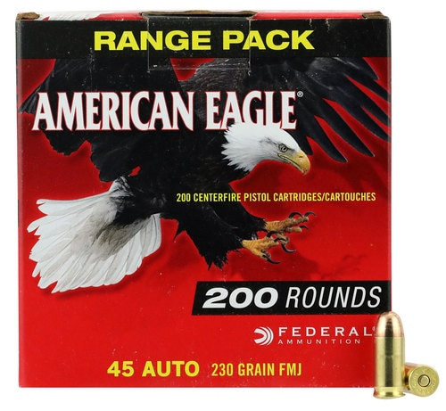 Federal American Eagle 45 ACP 230gr, Full Metal Jacket, 200rd/Box