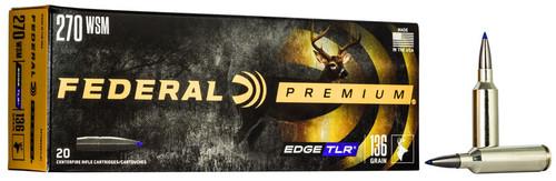 Federal Edge TLR 270 Win Short Mag (WSM) 136gr, Terminal Long Range, 20rd Box