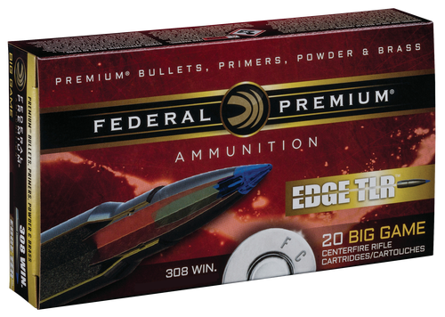 Federal Edge TLR 308 Win/7.62mm 180gr, Terminal Long Rang, 20rd Box