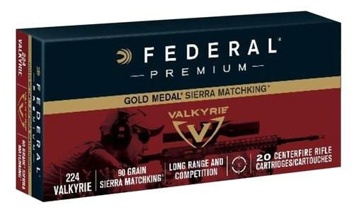 Federal Gold Medal 224 Valkyrie 90gr, 80rd/Case