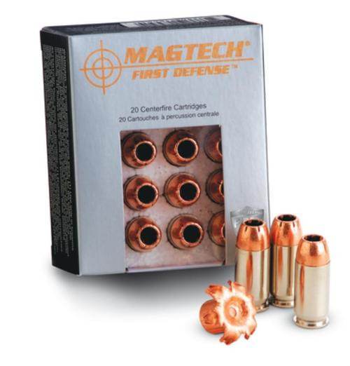 Magtech First Defense .40 SW 130gr, Solid Copper Hollow Point 20rd Box