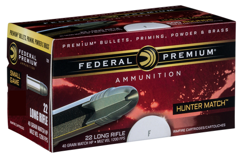Federal Hunter Match 22 LR 40gr, Hunter Match, 50rd Box