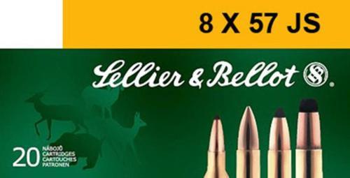 Sellier & Bellot 8mm Mauser JS SPCE 196 gr, 20rd Box, 20 Box/Case