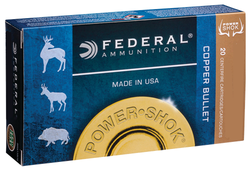 Federal Power-Shok 300 Win Mag 180gr, Copper Hollow Point, 20rd Box