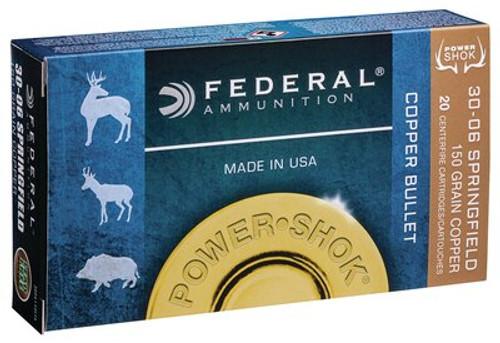 Federal Power-Shok 30-06 Springfield 150gr, Copper, 20rd Box