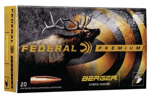 Federal Premium 308 Win 168gr, Berger Hybrid Hunter, 20rd Box