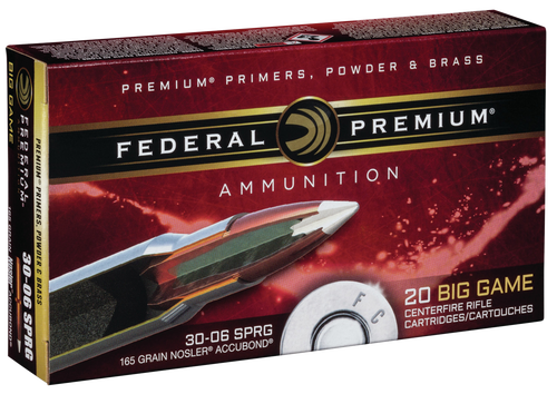 Federal Premium Vital Shok 30-06 Springfield 165gr Nosler Accubond, 20rd Box