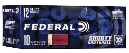 "Federal Shorty Buckshot 12 Ga, 1.75"", Lead Buckshot, 4 Buck Shot, 10rd/Box"