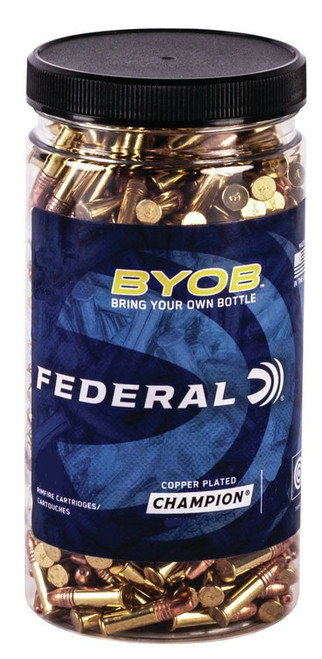 Federal Champion BYOB (Bring Your Own Bottle), 22 WMR, 50gr, Jacketed Hollow Point, 250rd Bottle