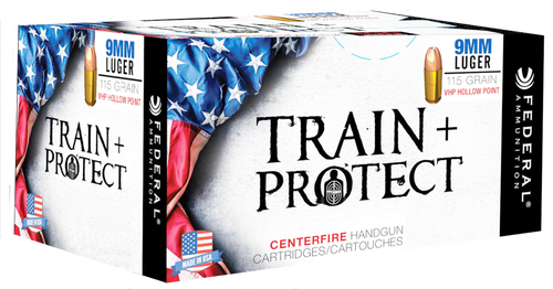 Federal Train and Protect 9mm 115gr, Verstile Hollow Point (VHP), 50rd Box