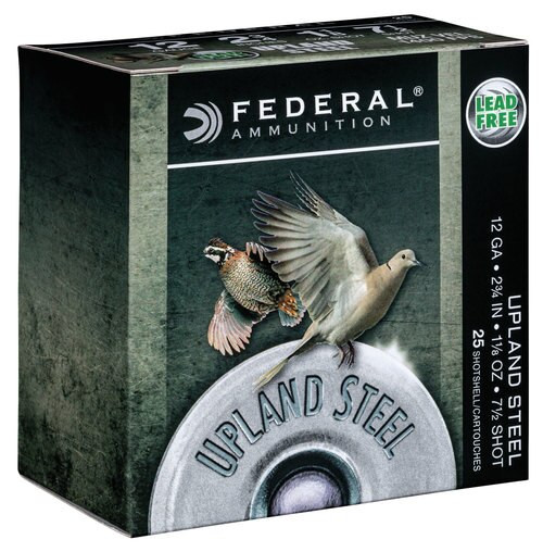 "Federal Upland Steel 12 Ga, 2.75"", 1 1/8 oz, Steel, 25rd/Box"