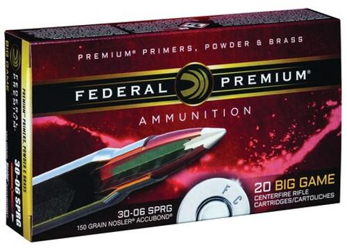 Federal Vital-Shok 30-06 Springfield 150gr, Nosler AccuBond, 20rd Box