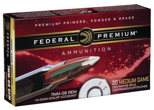 Federal Vital-Shok 7mm-08 Rem 140gr, Nosler AccuBond, 20rd Box