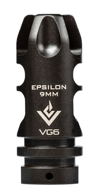 AERO Epsilon 9mm, Muzzle Brake, 9mm, Black, 1/2X28