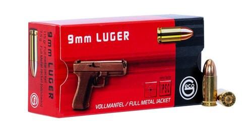 GECO Pistol 9mm 115gr, FMJ, 50rd Box