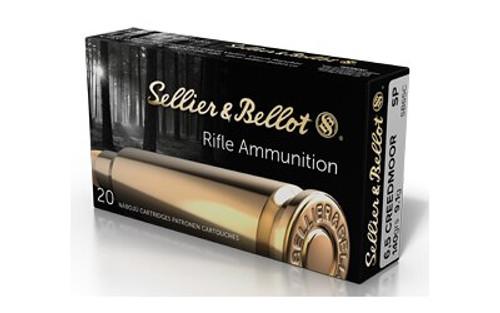 Sellier & Bellot 6.5 Creedmoor, 140 GR, Soft Point, 20rd Box/25 Box Per Case