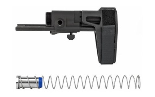 Maxim CQB Pistol/PDW Brace AR15, Gen 6, Standard Buffer, No Proprietary Bolt Carrier Required, SB15 Pistol Stabilizing Brace, Black