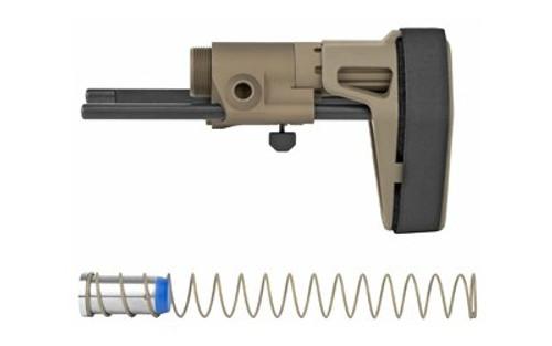Maxim CQB Pistol/PDW Brace AR15, Gen 6, Standard Buffer, No Proprietary Bolt Carrier Required, SB15 Pistol Stabilizing Brace, Flat Dark Earth