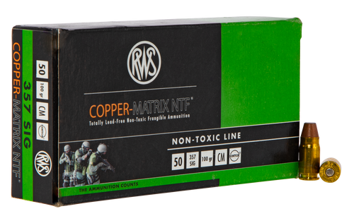 Ruag Copper Matrix NTF 357 Sig, Frangible, 50rd Box