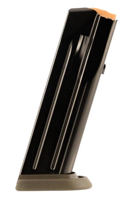 FN FNS-9C Magazine 9mm, Steel Black Body/FDE Base Finish, 17rd