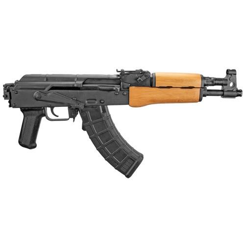 "F.A.Cugir Draco AK-47 Pistol, Romanian, 7.62X39, 12.25"" Barrel, Wood Forend, Picatinny Arm Brace Mount, 30Rd Mag"