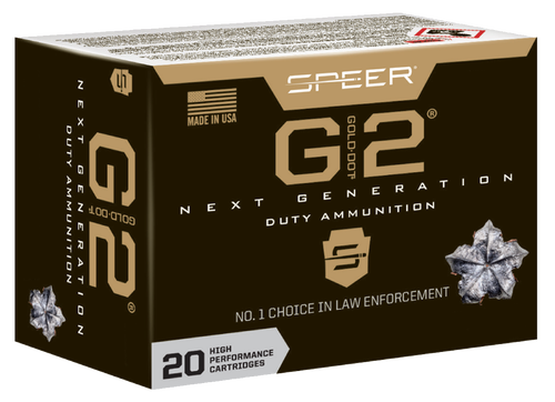 Speer Gold Dot G2, 40S&W, 180Gr, Gold Dot Hollow Point, 20rd Box