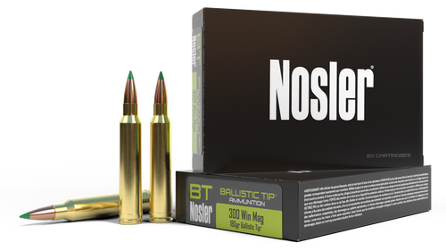 Nosler Ballistic Tip 300 Win Mag 180gr, Ballistic Tip, 20rd Box