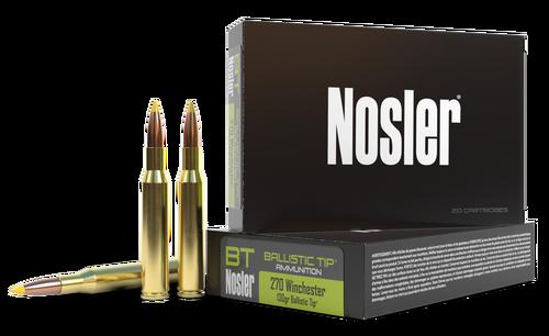 Nosler Ballistic Tip 270 Winchester 130gr, Ballistic Tip, 20rd Box