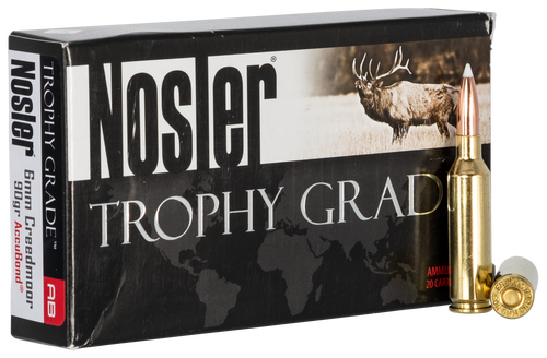 Nosler Trophy 6mm Creedmoor 90gr, AccuBond, 20rd Box