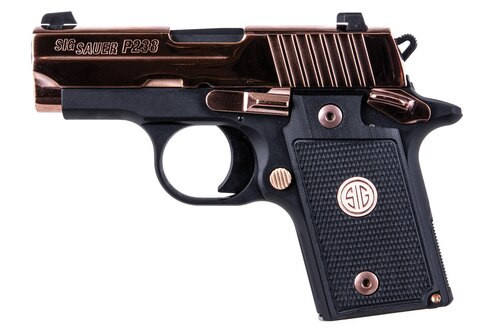 "Sig P238, .380 ACP, 2.7"" Barrel, 6rd, Siglite, SAO, Rose Gold"