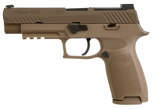 "Sig P320 M17, 9mm, 4.7"" Barrel, 10rd, Siglite, Coyote"